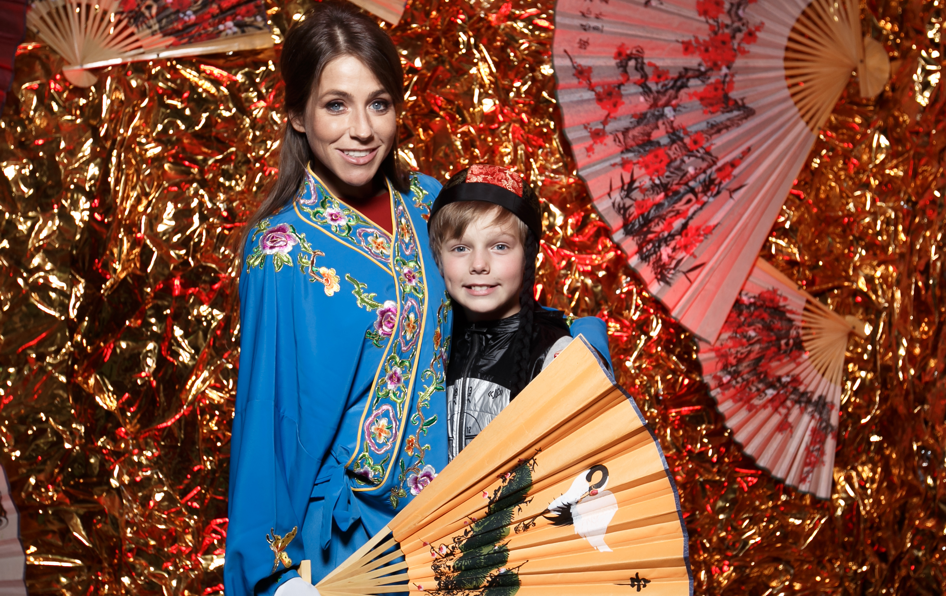 Юлия Барановскя с сыном Артемом