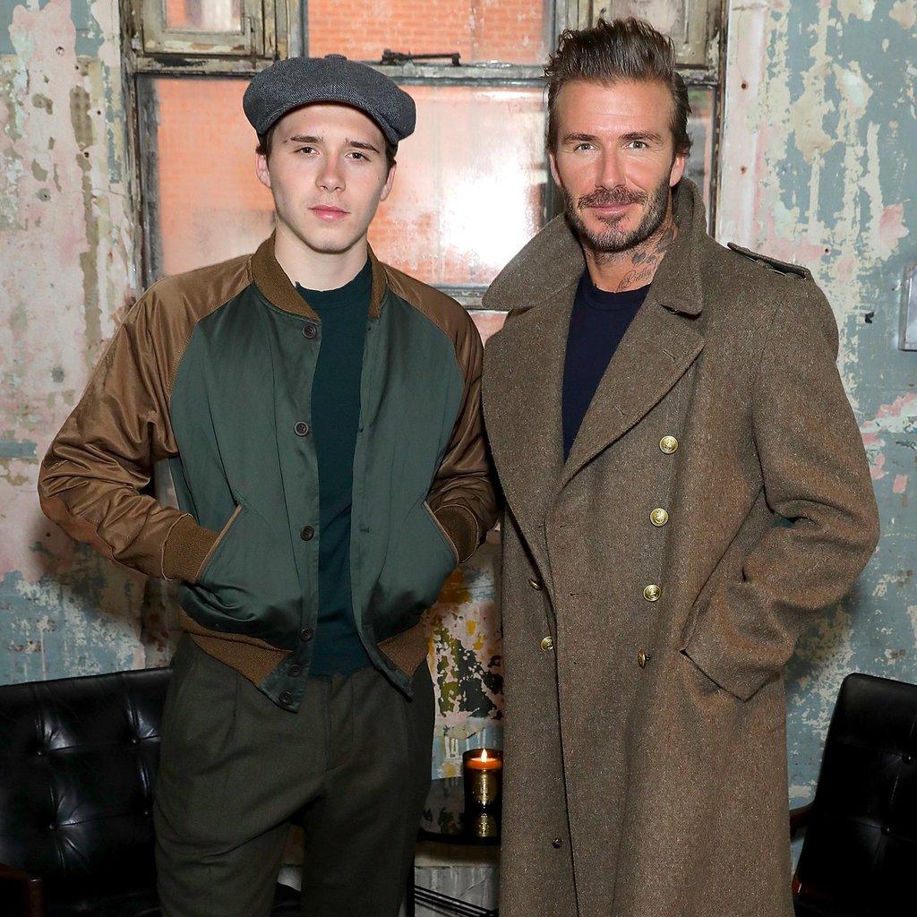 Дэвид с сыном Бруклином