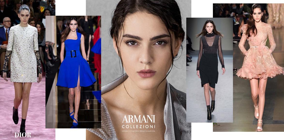 Тако на показах Dior и Versace; Тако в рекламной кампании Armani Collezioni