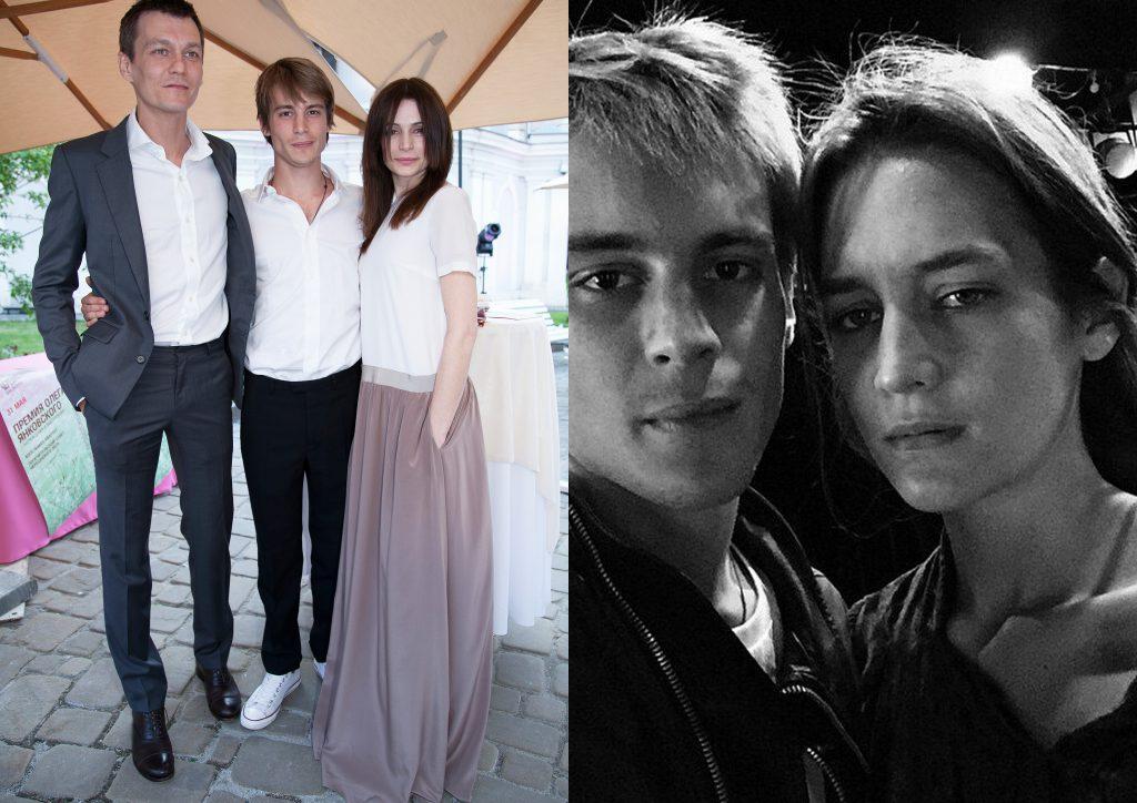 Филипп Янковский и Оксана Фандера с сыном Иваном / Иван с сестрой Лизой Янковской
