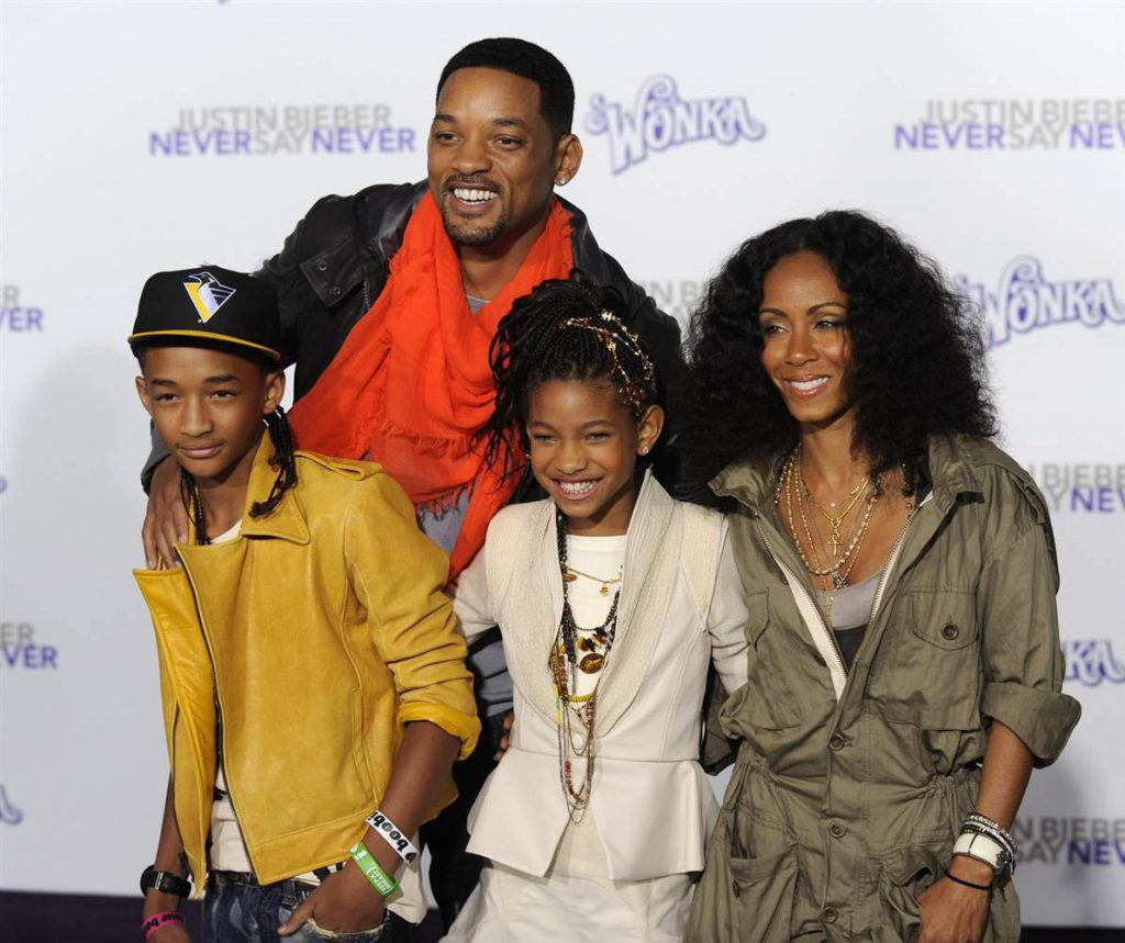 Уилл и Джада с детьми