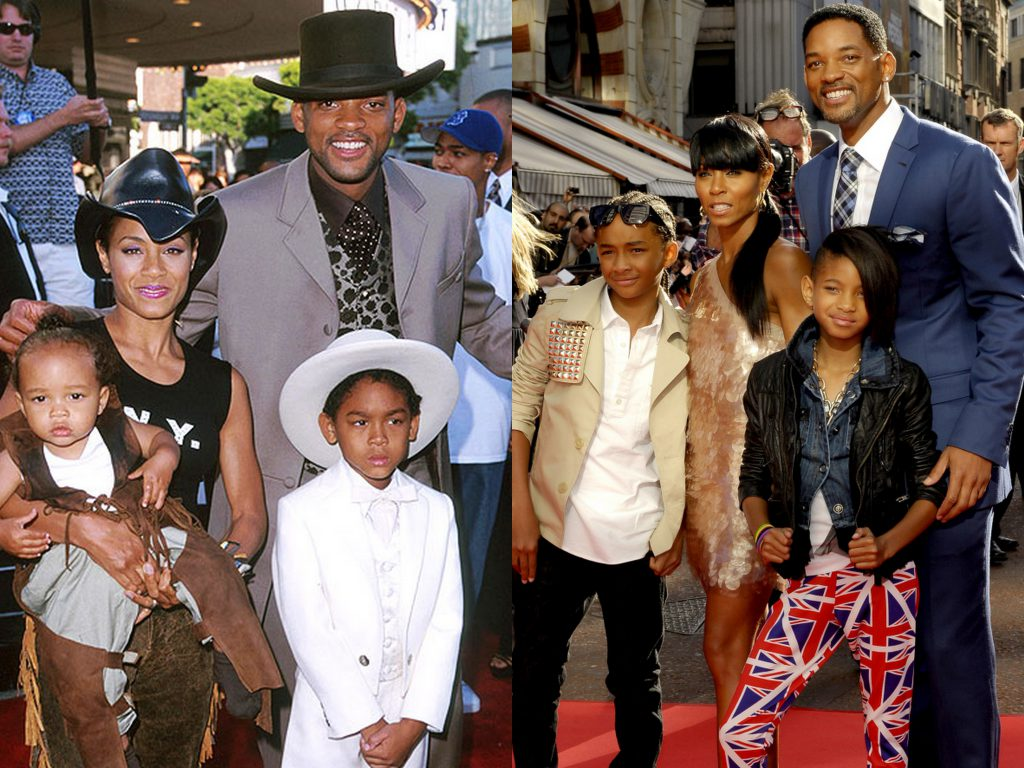 Уилл Смит с женой и детьми Джейденом и Уиллоу