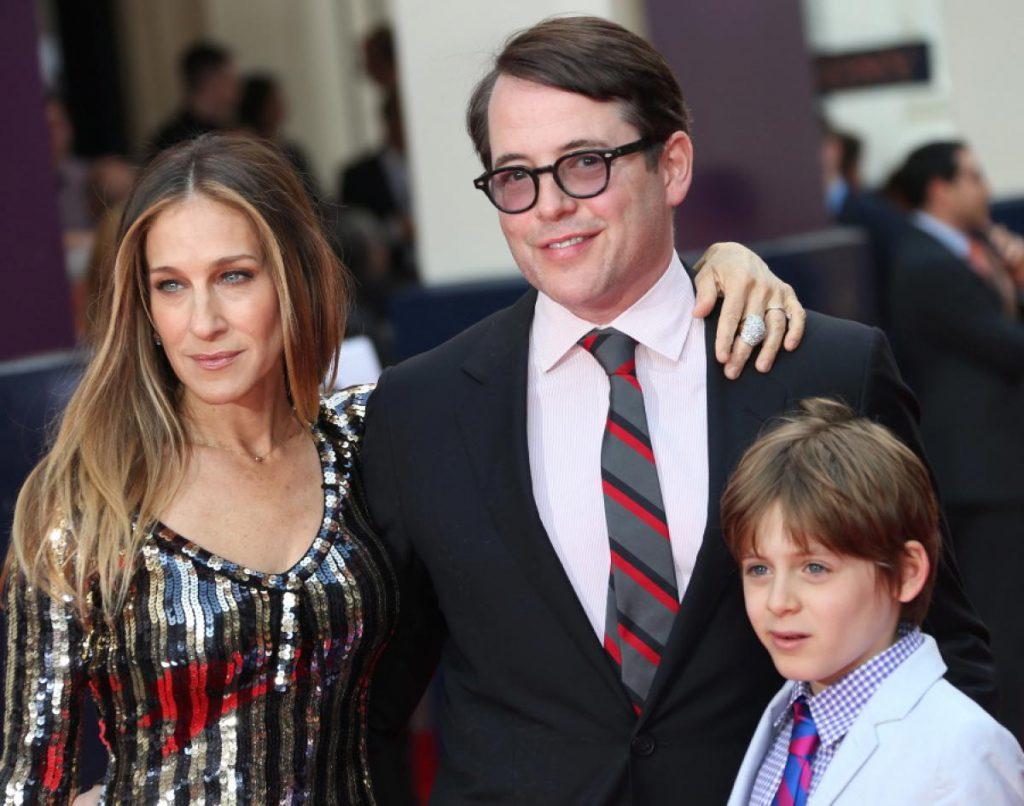 Сара Джессика Паркер и Мэттью Бродерик с сыном Джеймсом