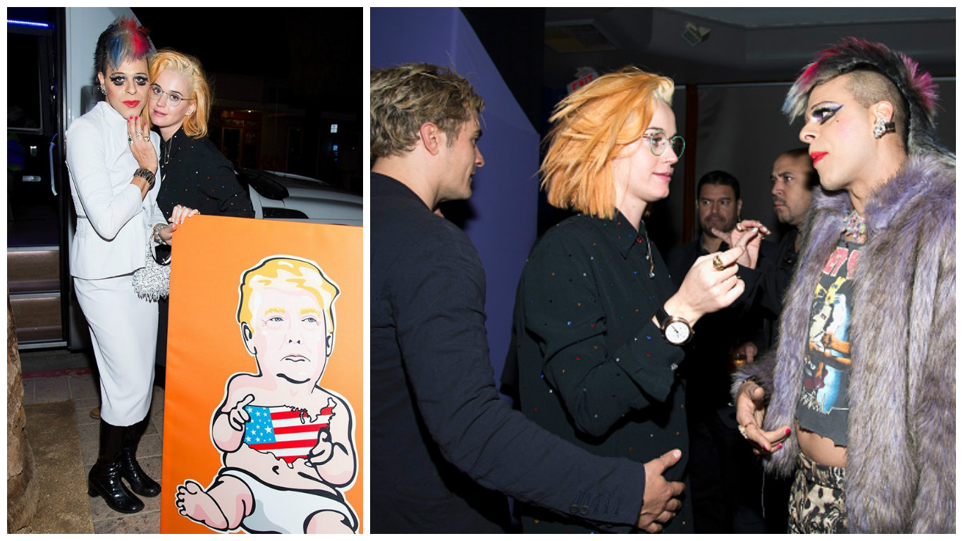 Кэти Перри с новым цветом волос
