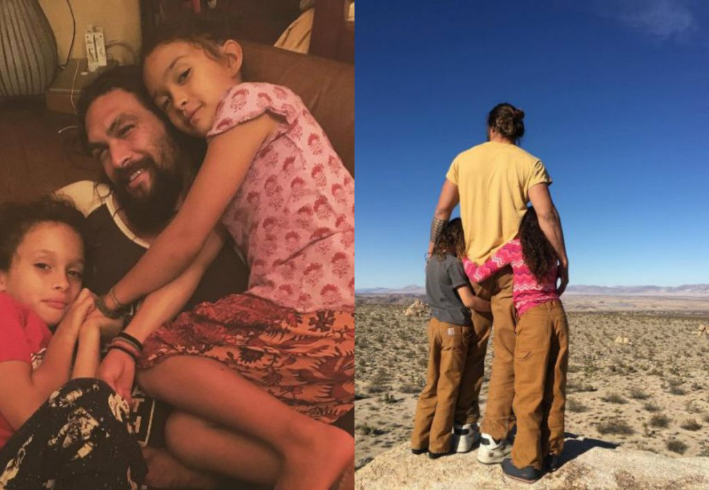 Джейсон Момоа с детьми