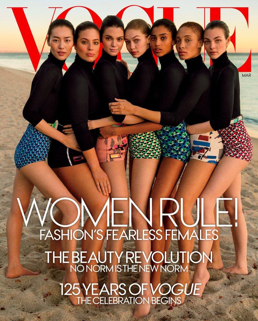 Обложка мартовского Vogue USA, 2017 год