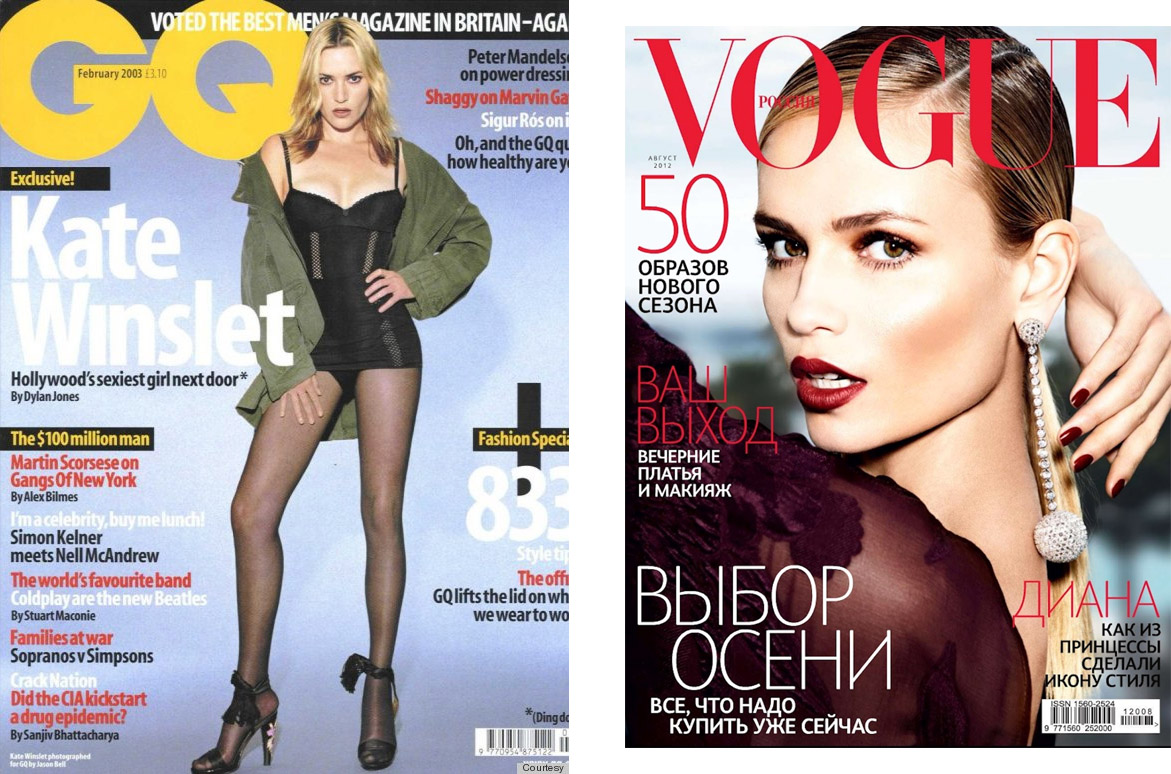 Кейт Уинслет на обложке GQ, Наташа Полина на обложке Vogue