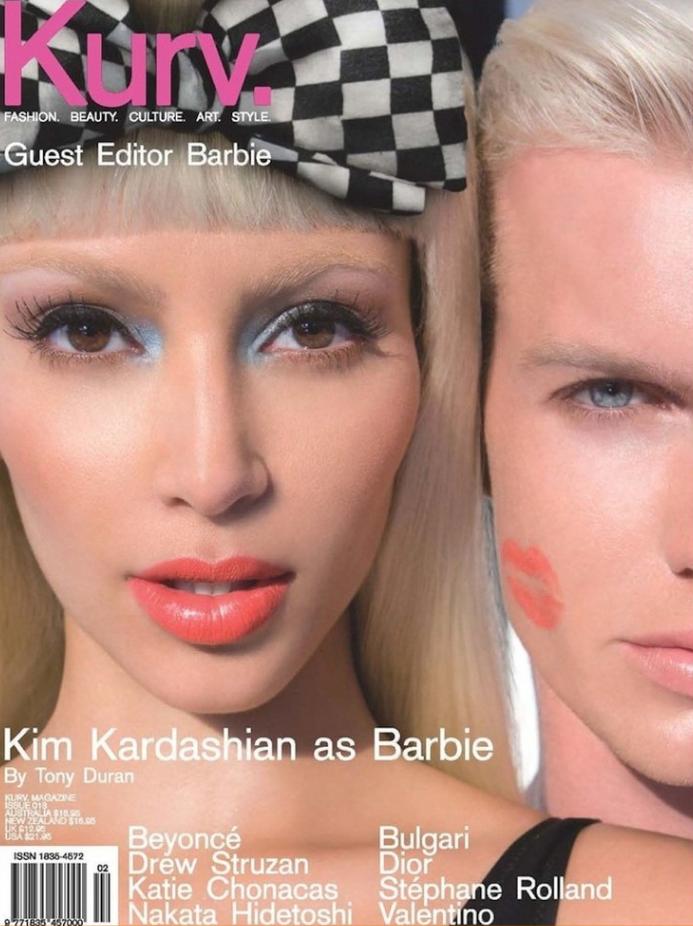 Ким Кардашьян на обложке журнала Kurv