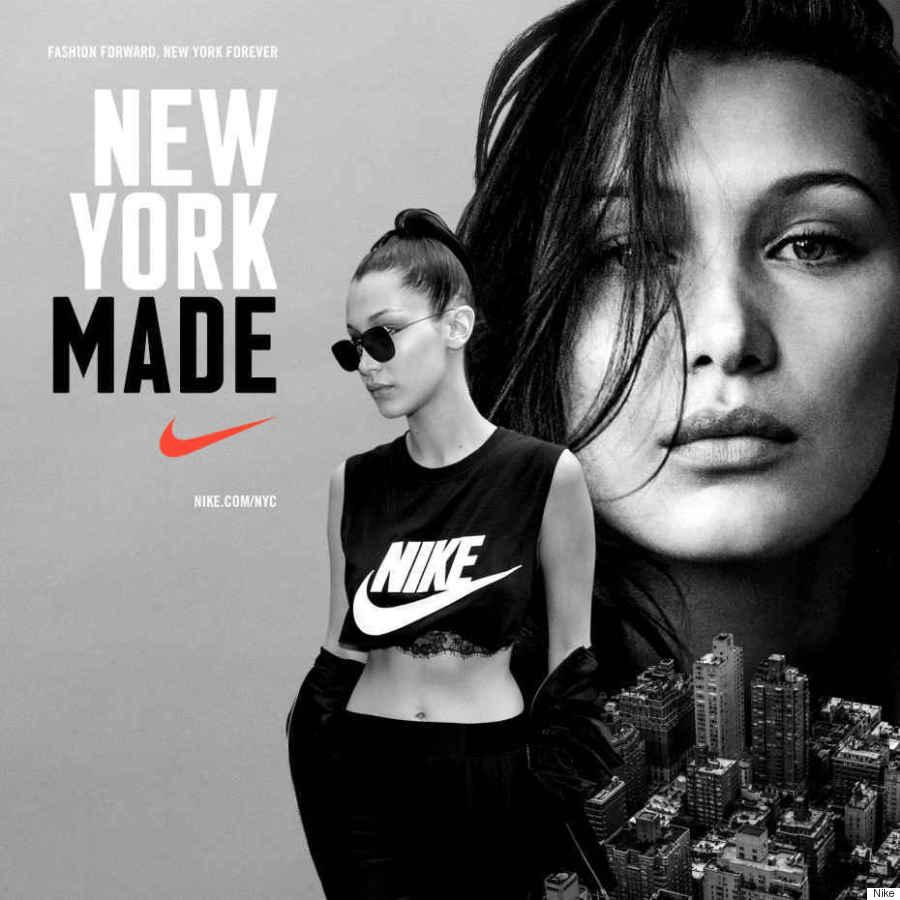 Белла Хадид в рекламной кампании Nike