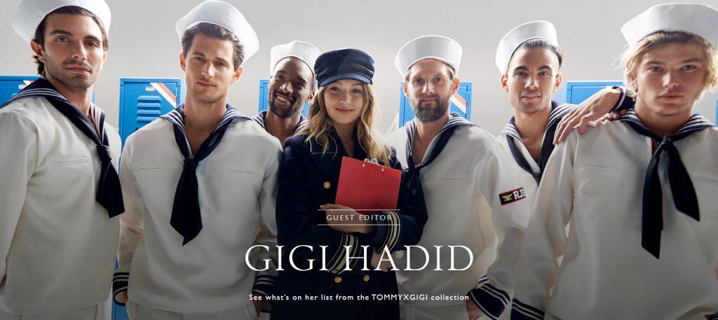 Джиджи Хадид в рекламной кампании Tommy x Gigi