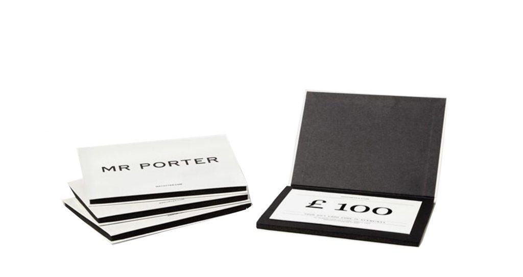 Подарочный сертификат Mr. Porter, 7300 руб.
