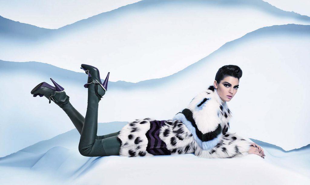 Кендалл Дженнер в рекламной кампании Fendi