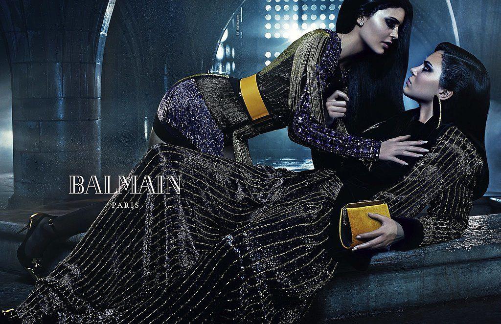 Кендалл и Кайли Дженнер в рекламной кампании Balmain