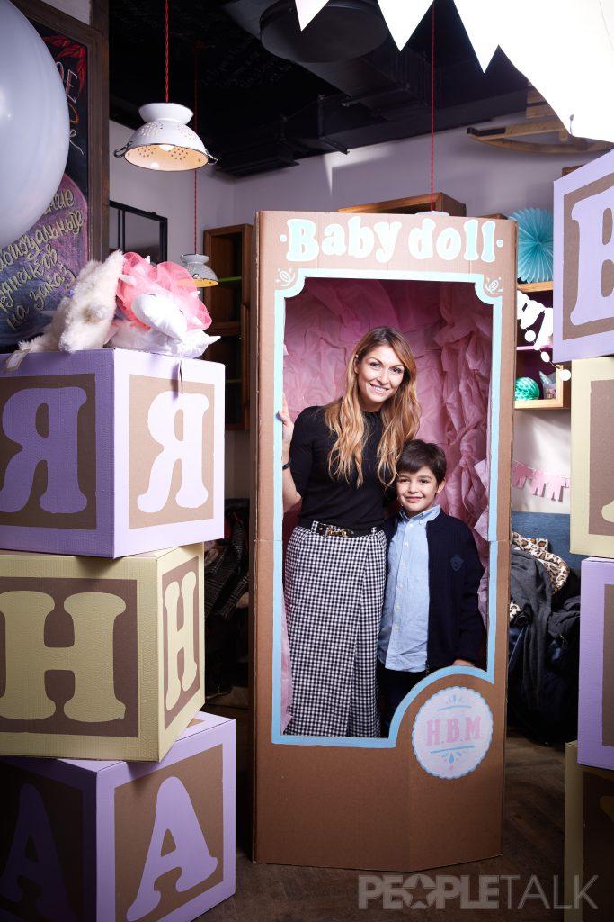 Эллина Баликоева с сыном Георгием