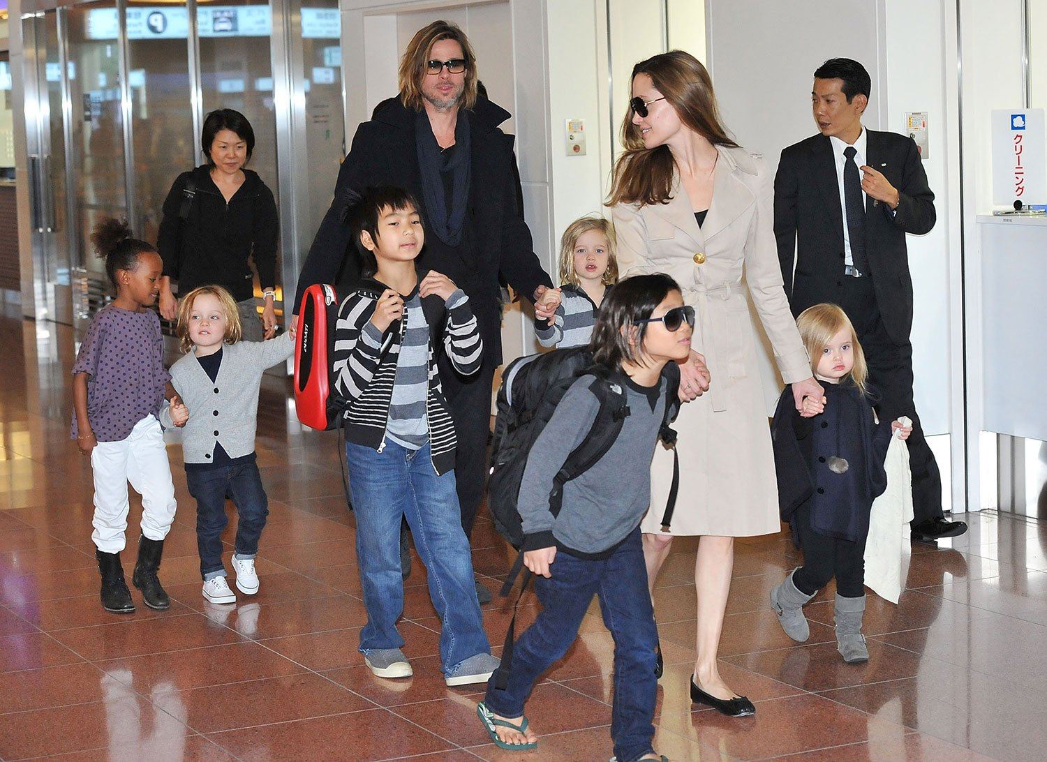 Brad pitt and angelina jolie family