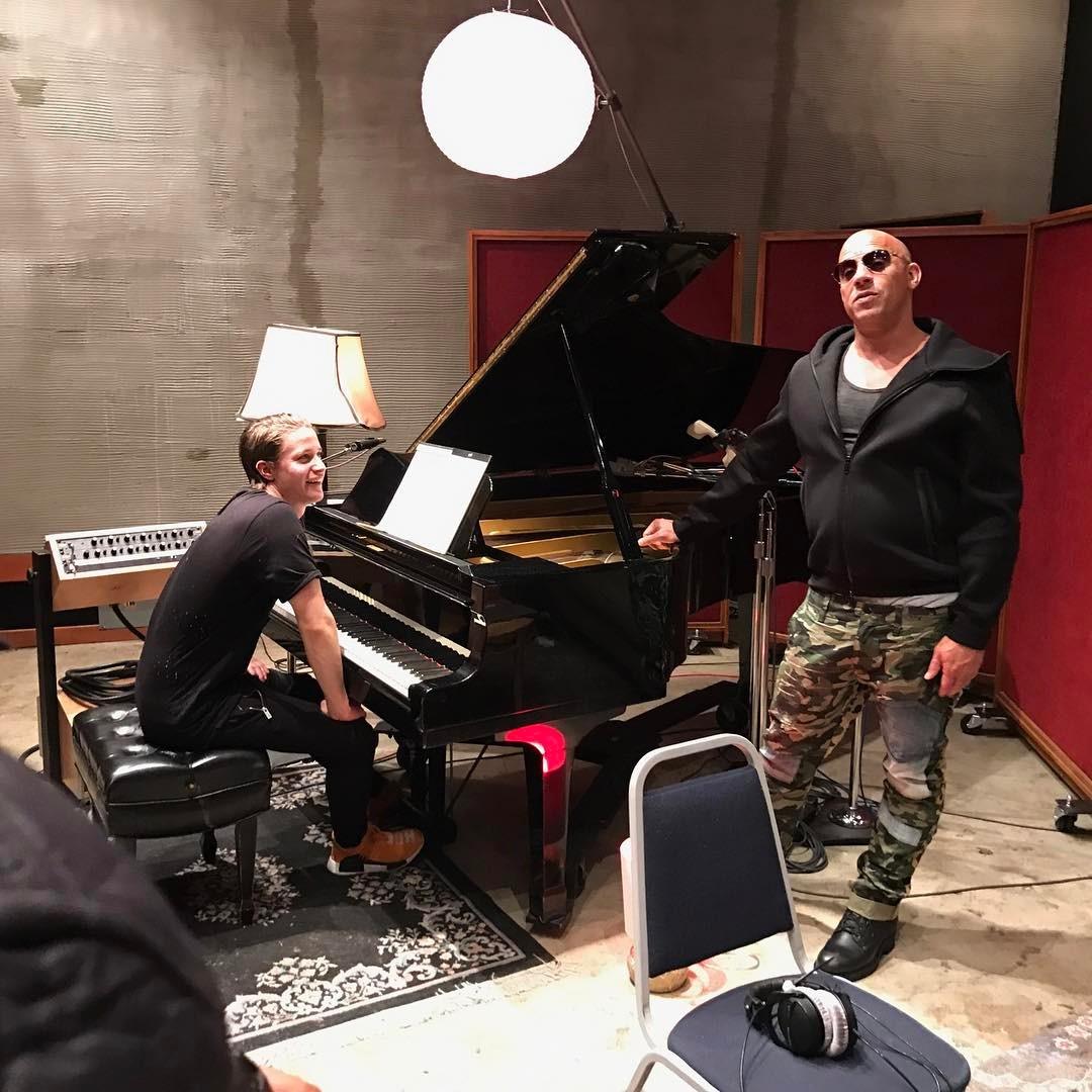 Вин Дизель во время записи нового хита
