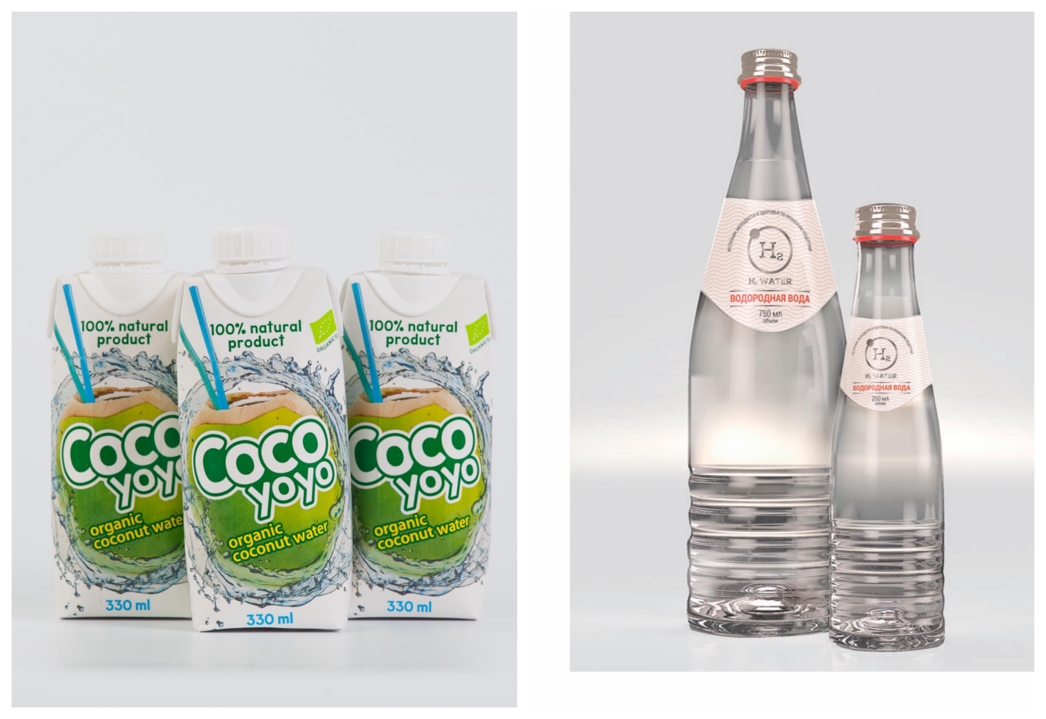 Кокосовая вода, CoCoYoYo, 148 руб. и водородная вода Н 2 Water, ENHEL, от 230 руб.