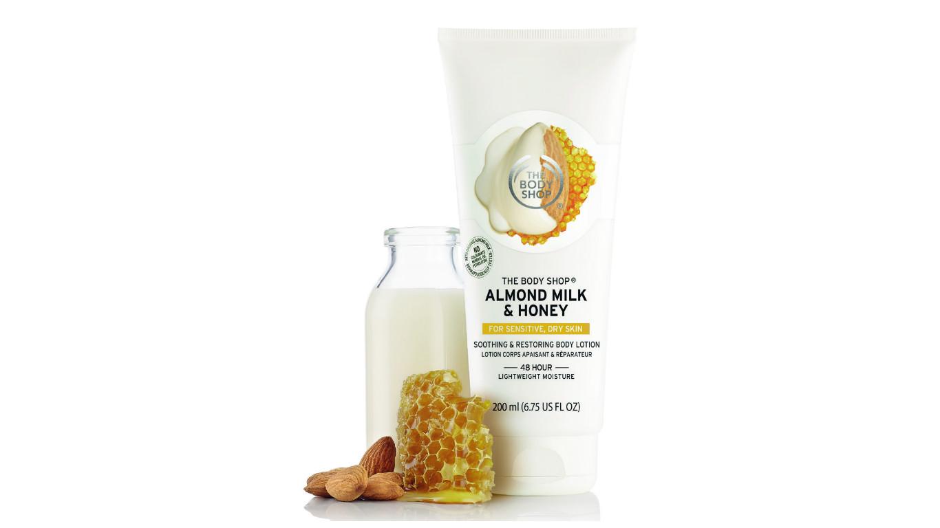 Молочко для тела «Миндальное молочко и мед», The Body Shop