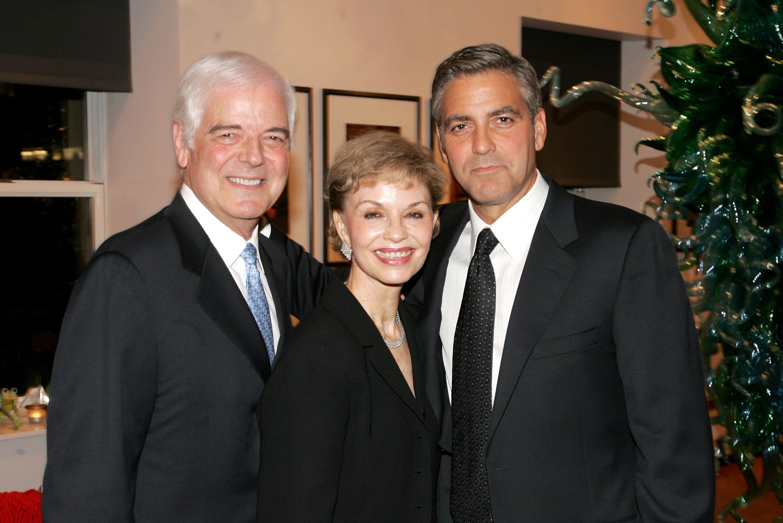 Джордж Клуни с родителями