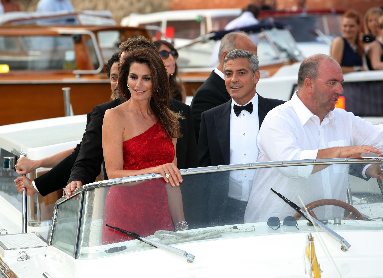 Синди Кроуфорд и Джордж Клуни
