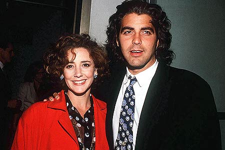 Джордж Клуни с первой женой, 1990