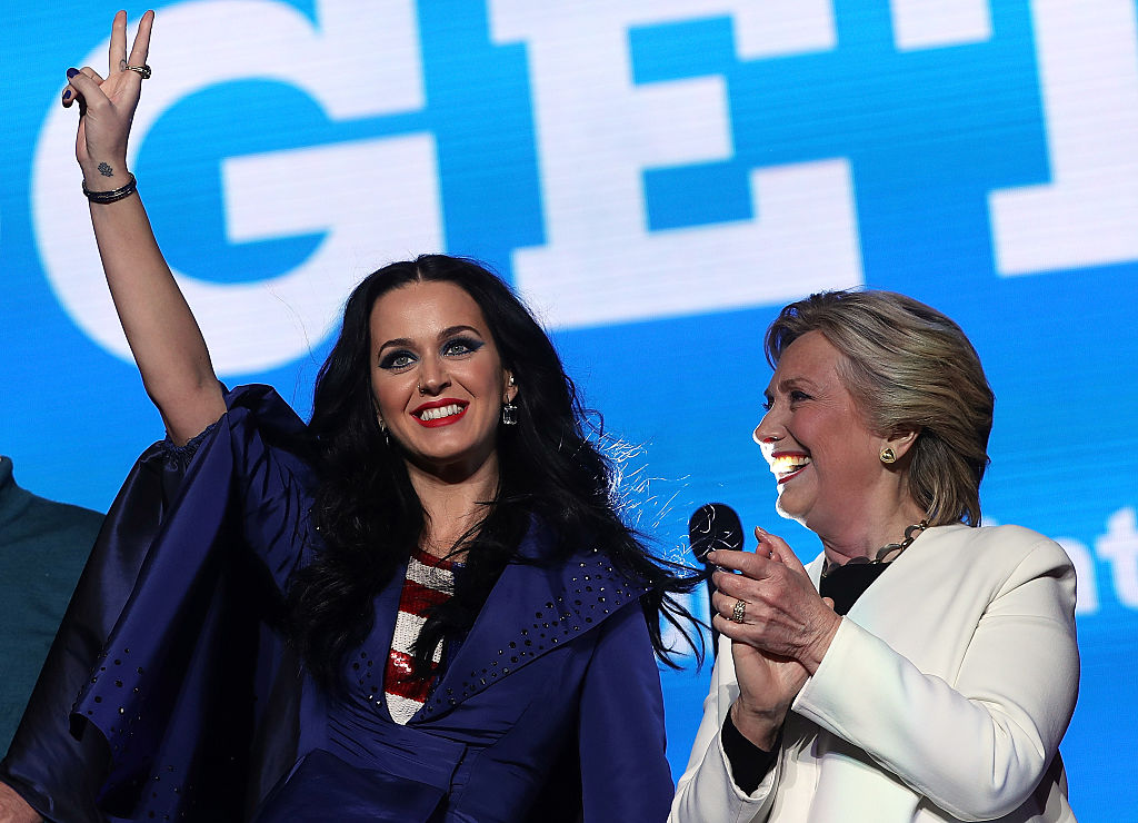 Кэти Перри и Хиллари Клинтон