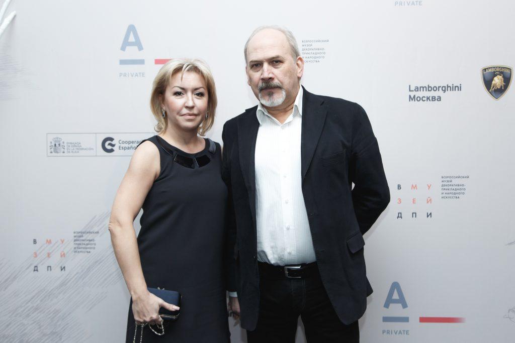 Наталья Беляева и Владимир Якунин