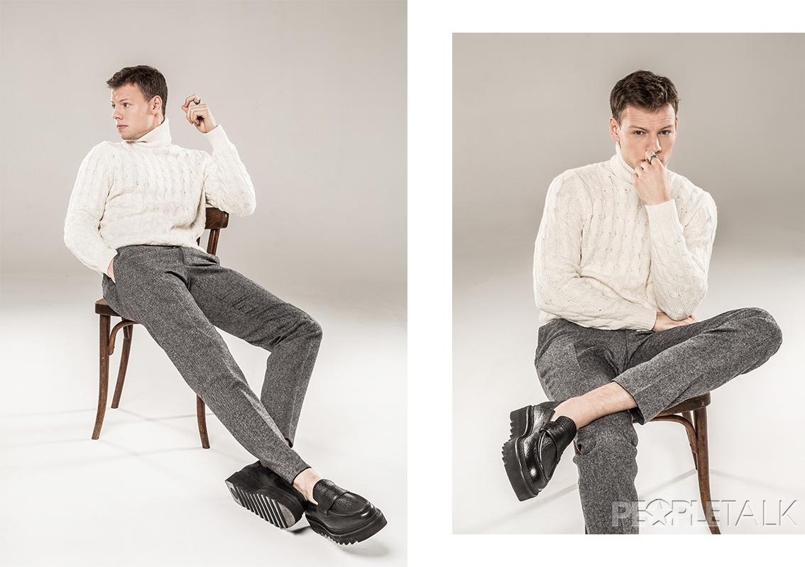 Джемпер, брюки, Daniel Hechter; обувь, Alberto Guardiani
