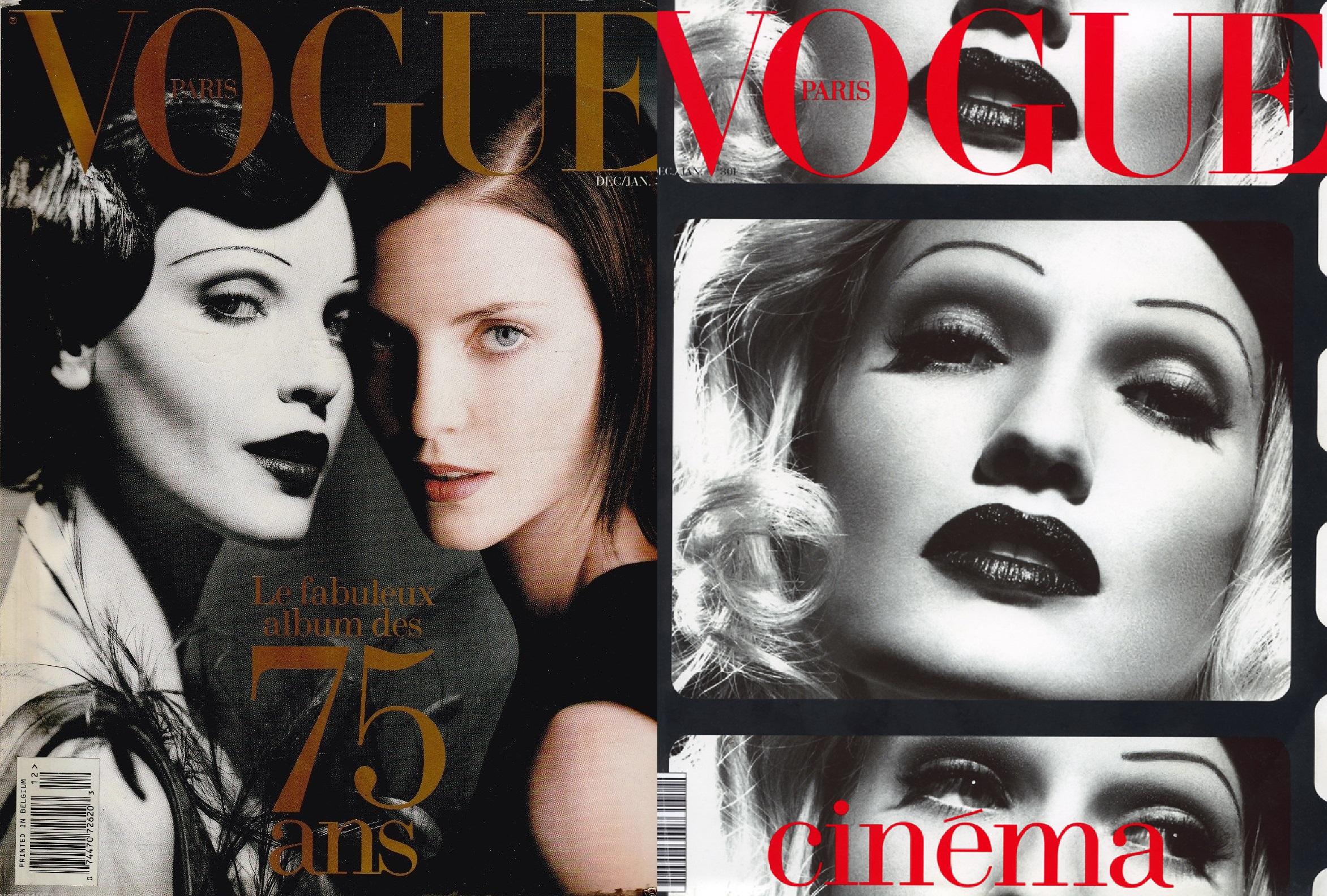 Vogue Франция, декабрь 1996; Vogue Франция, декабрь 1995