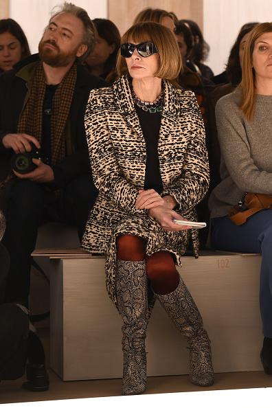 Анна Винтур  на показе Fendi