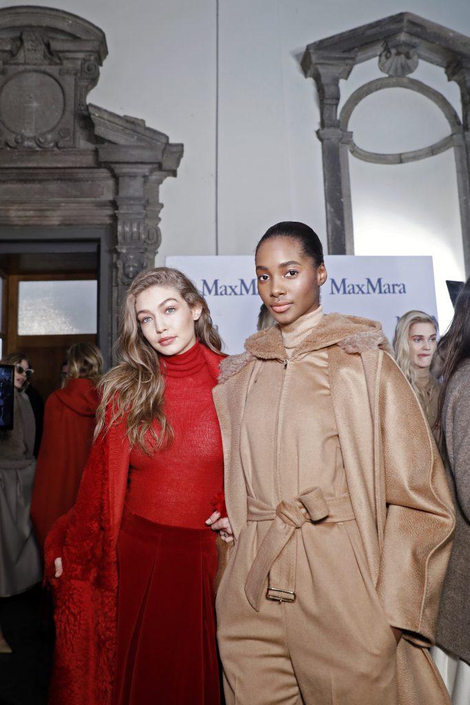 Джиджи Хадид и Амилна Эстевао на показе Max Mara