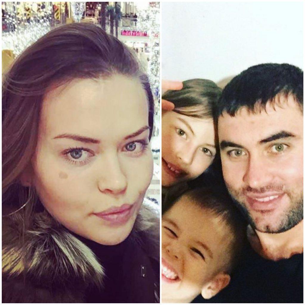 Татьяна Петенкова и Александр Петенков с детьми