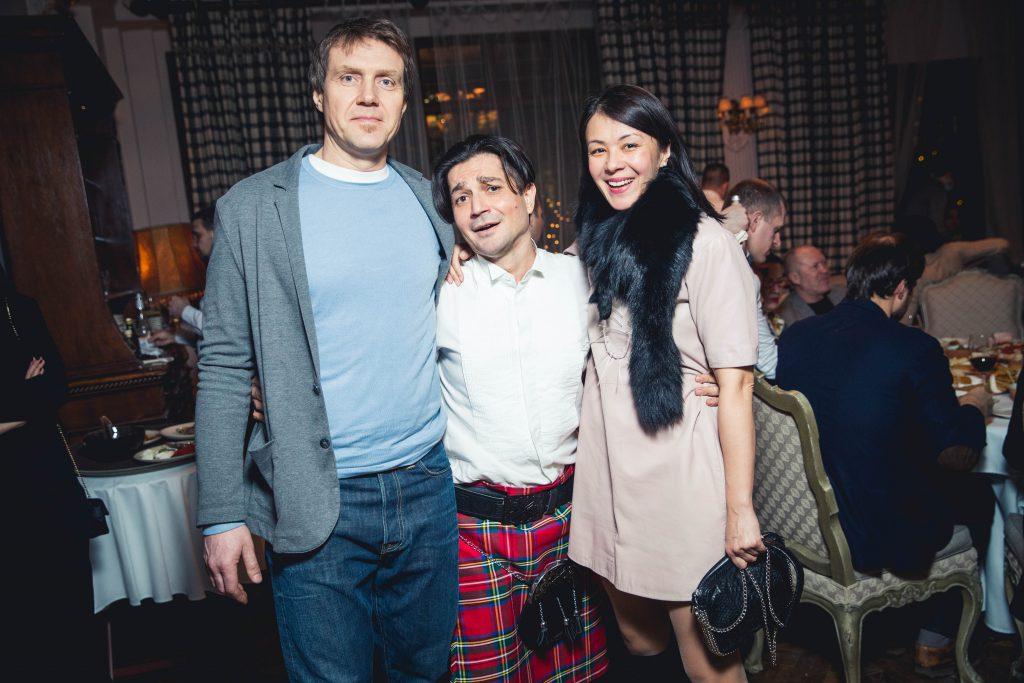 Екатерина Каменская с супругом Дмитрием и Алексей Боков