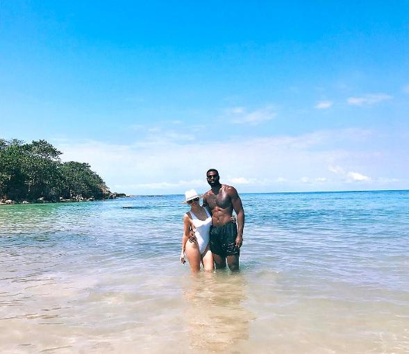 Хлои Кардашьян и Тристан Томпсон на Ямайке