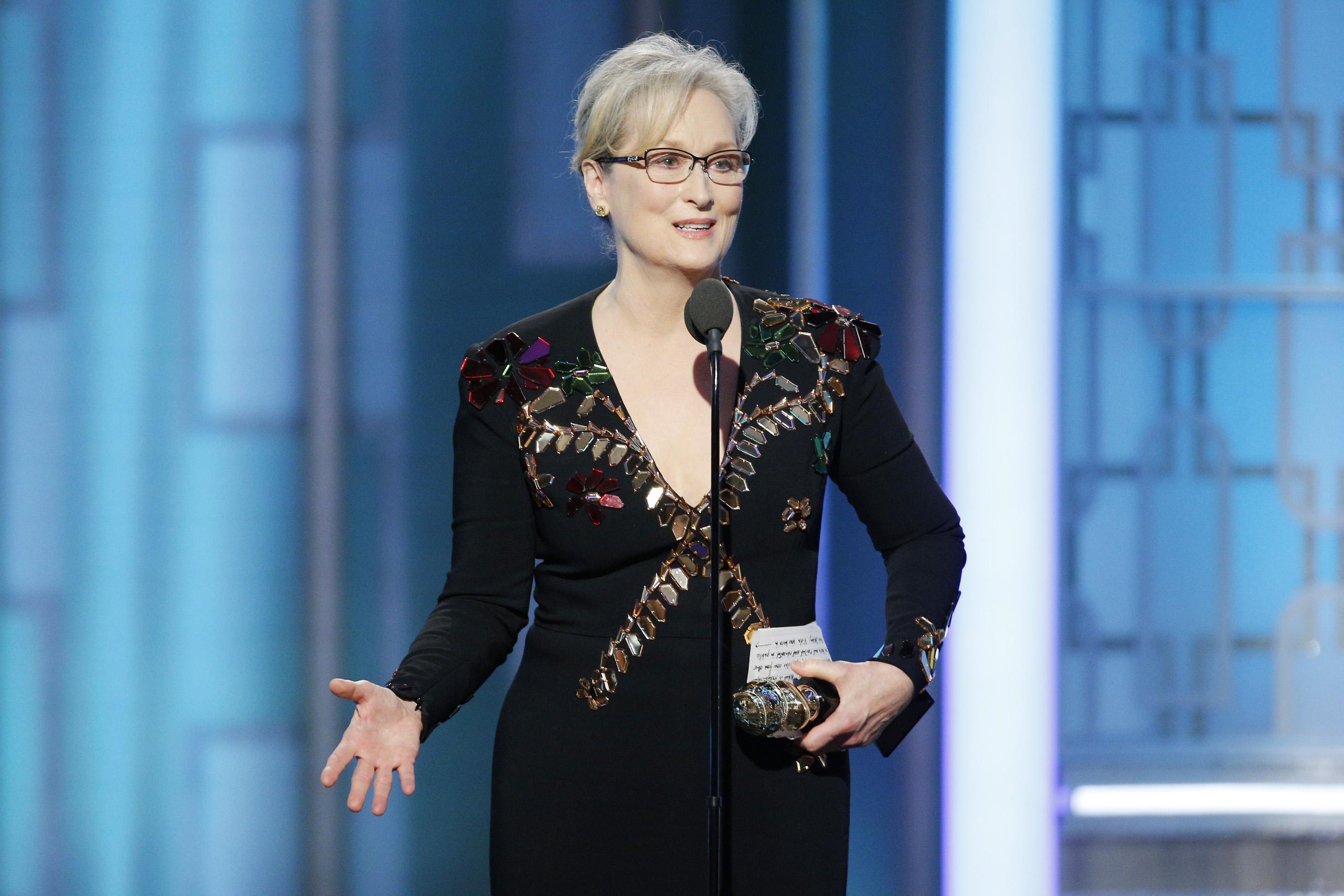 Мерил Стрип на Golden Globe-2017