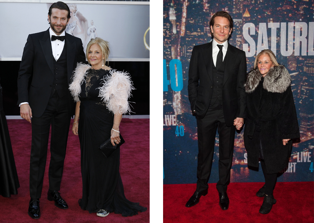 Брэдли Купер с мамой Глорией Кампано