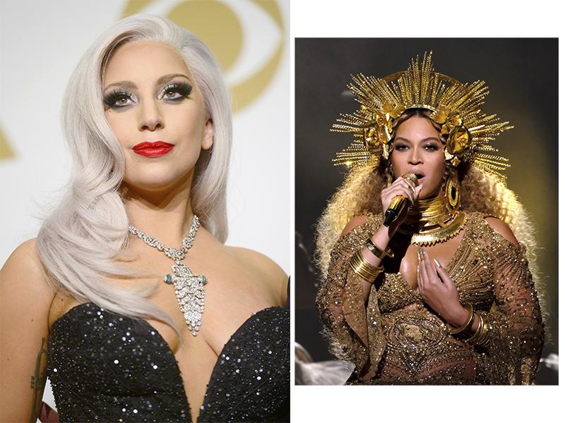 Леди Гага и Бейонсе