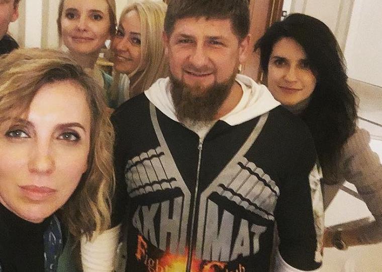 Светлана Бондарчук, Наталья Якимчик, Яна Рудковская, Рамзан Кадыров и Ксения Соловьева