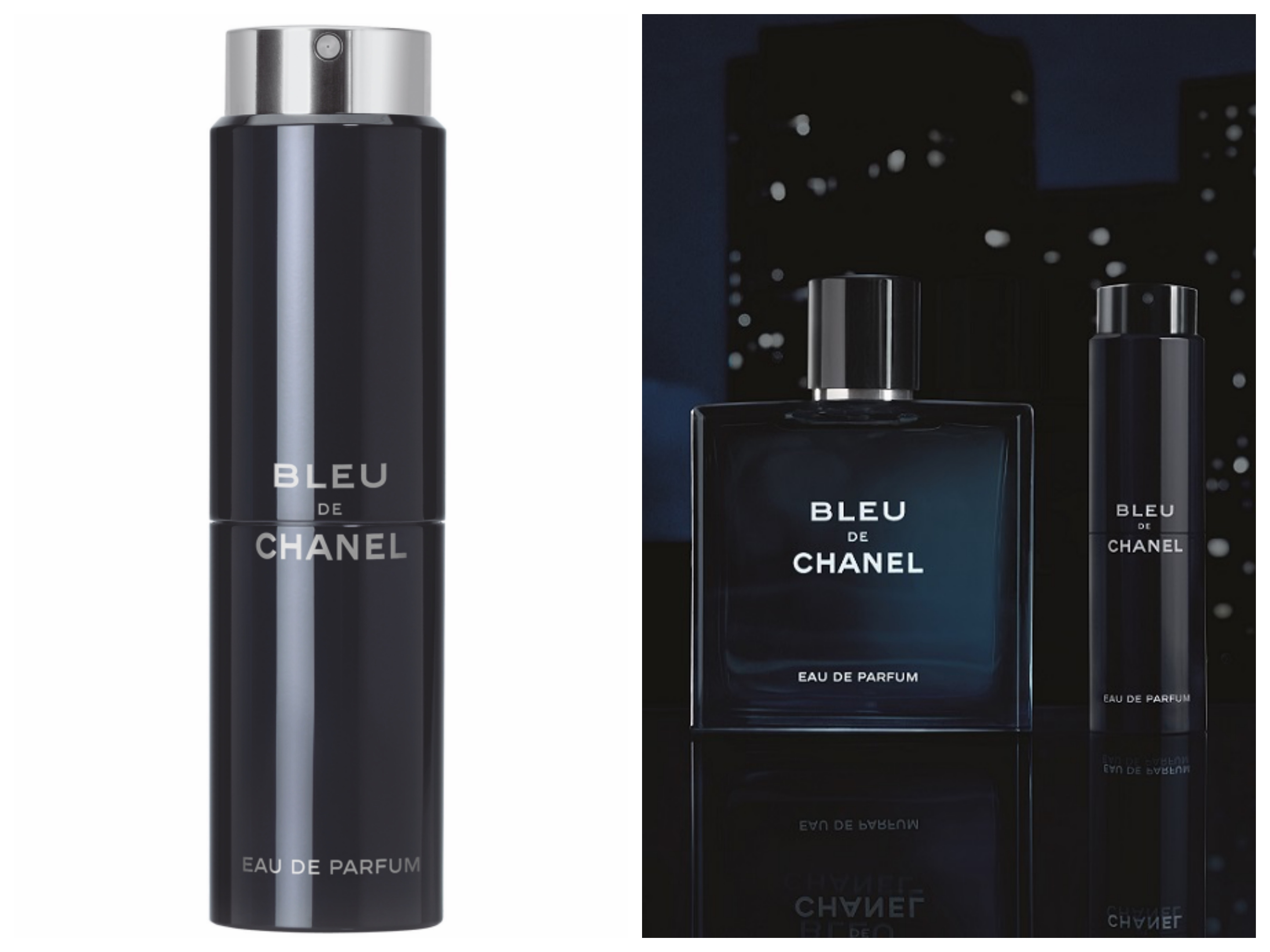 Спрей для путешествий со сменным флаконом Blue De Chanel