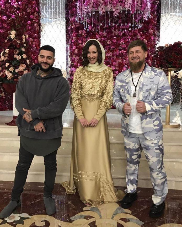 Тимати, Ольга Бузова и Рамзан Кадыров