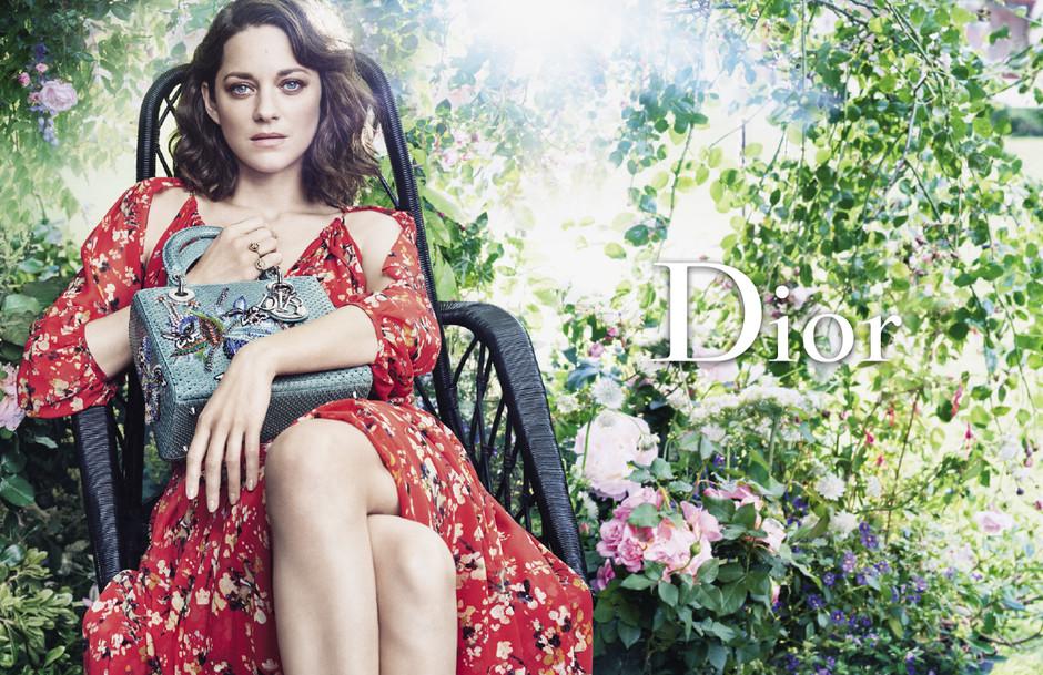 Марион Котийяр в рекламе Dior