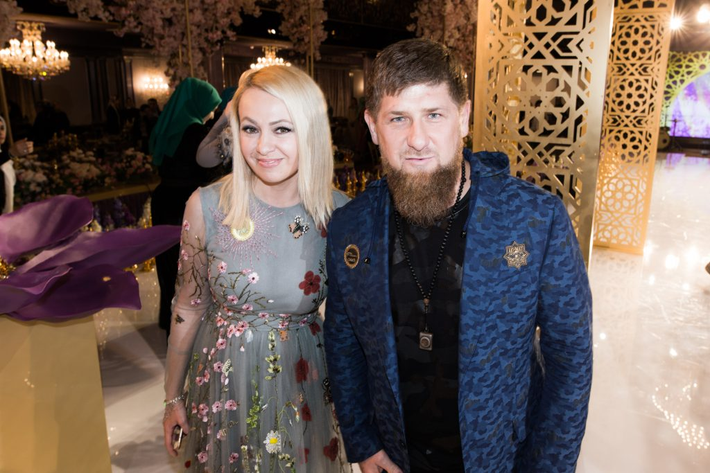 Яна Рудковская и Рамзан Кадыров