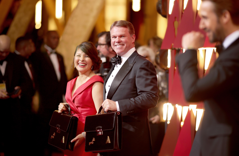 """Брайан Куллинан и Марта Роуз на церемонии """"Оскар-2017"""""""