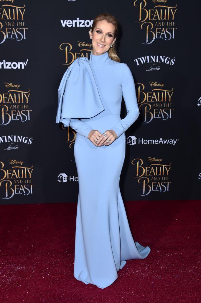 Селин Дион на премьере фильма «Красавица и чудовище»