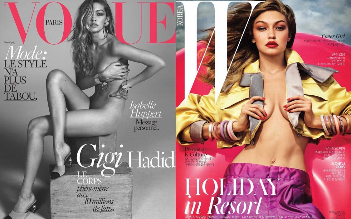 Джиджи Хадид на обложках Vogue Paris и W