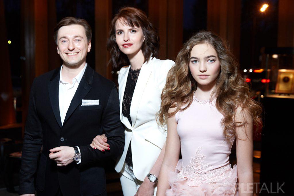 Сергей Безруков, Анна Матисон и Анастасия Безрукова