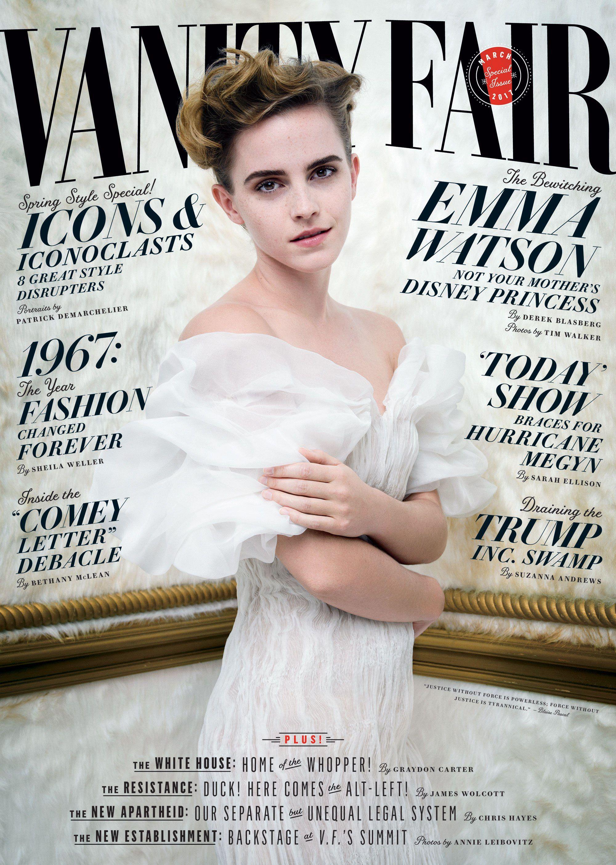 Эмма Уотсон на обложке журнала Vanity Fair