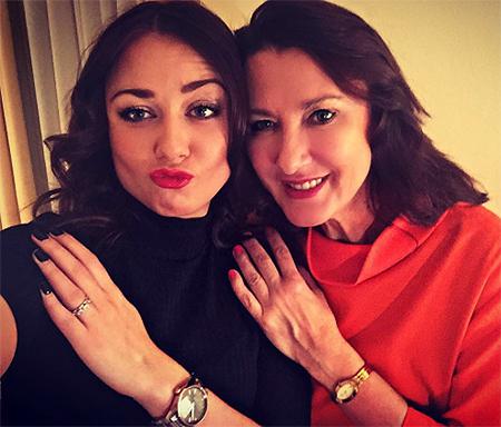 Ингрид Олеринская с мамой