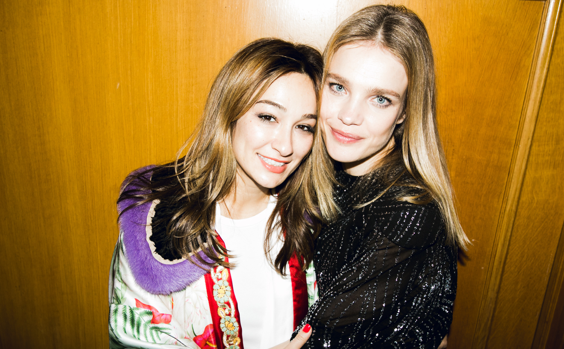 Айсель Трудел и Наталья Водянова