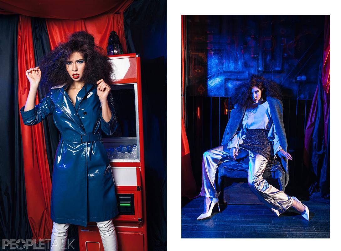 Тренч, Dior; ботфорты, Stuart Weitzman